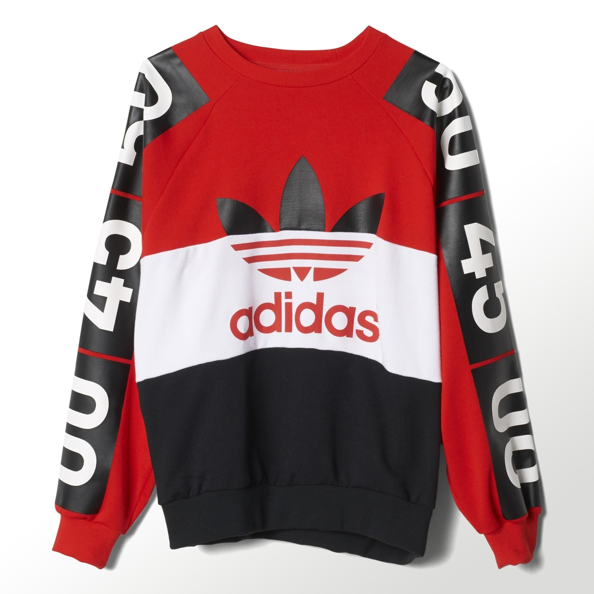 adidas Topshop Superstar Sweatshirt - Red | adidas US | Treats ...