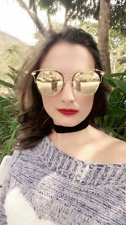 d014b44a0 Lindo óculos da BEBLOCK e gargantilha preta. @milanothayna ...