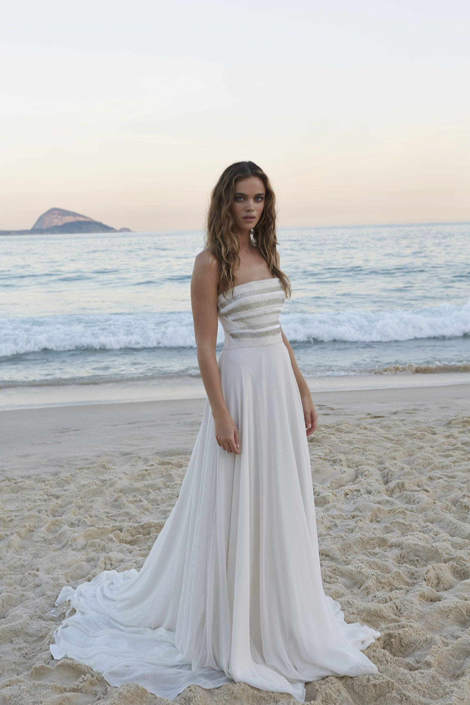 The romantic Maia dress with embellished bodice and flowing bohemian ...