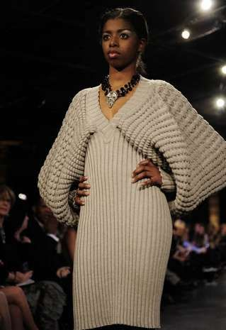 steven oo's amazing knitwear showcased at nashville fashion week, his pieces can be found on projectartisan.com