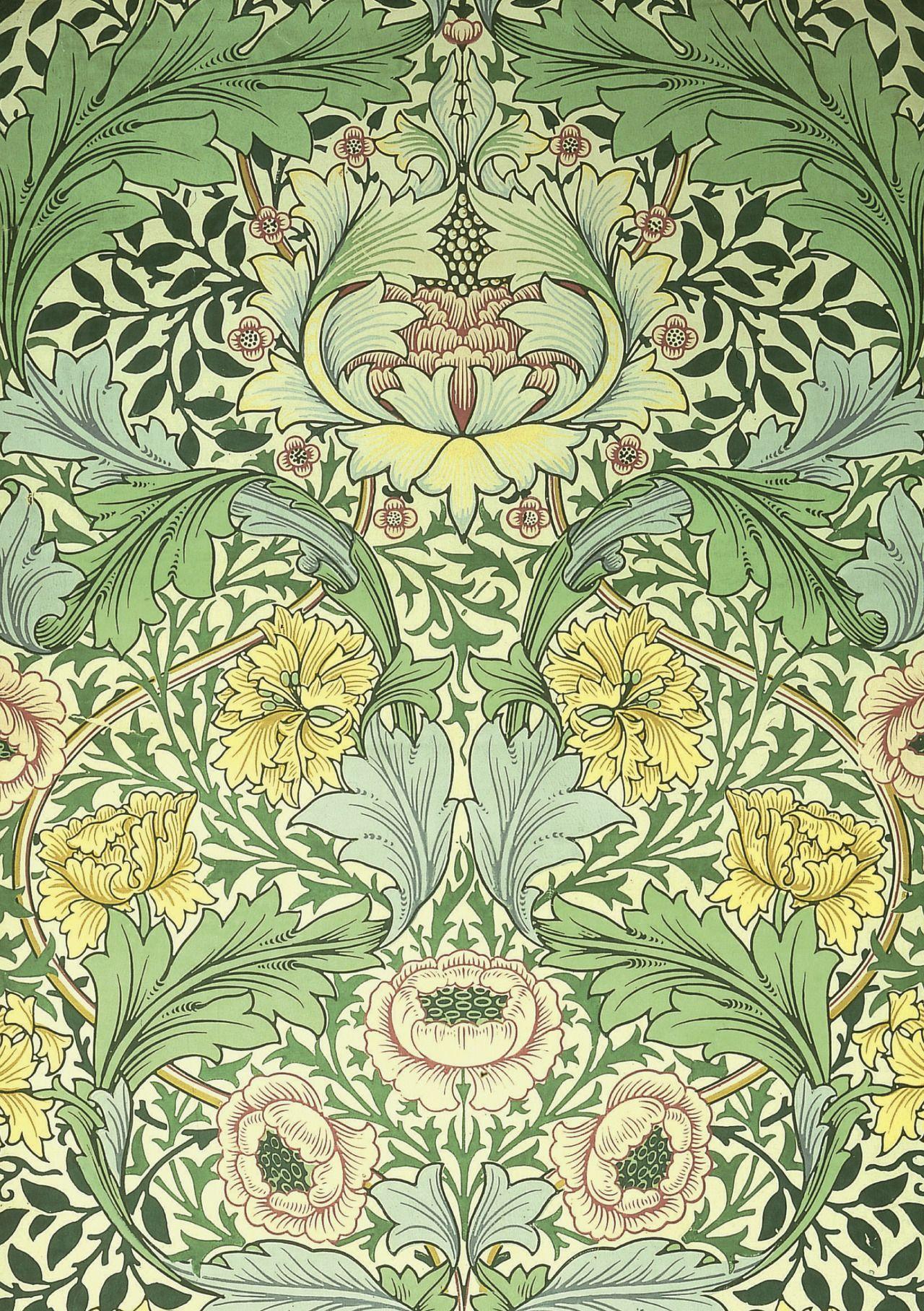 William Morris Pre Raphaelite Designer Wallpaper