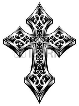 Kreuz Tattoo Verziert Celtic Cross Vector Illustration
