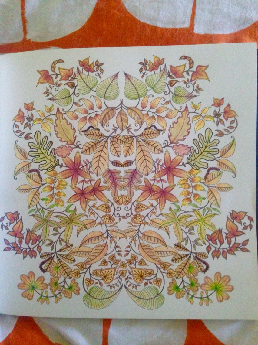 finished today 7 21 from johanna basford u0027s 2016 17 planner my