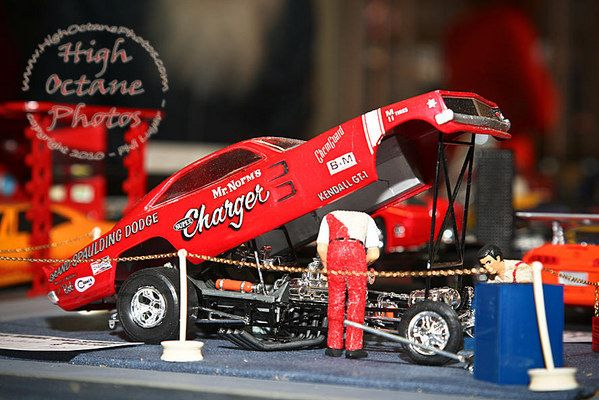 Cool Funny Car diorama on display at Super Model Car Sunday