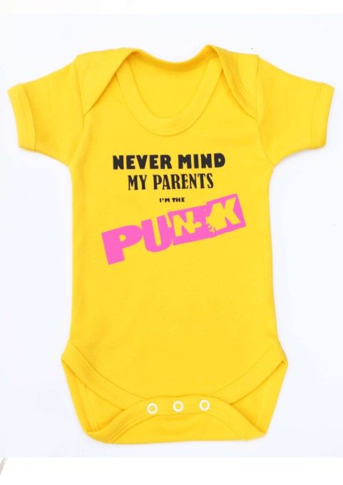 7fffcee48cb6 Punk Baby Grow - NEVERMIND MY PARENTS | cool! | Punk baby clothes ...