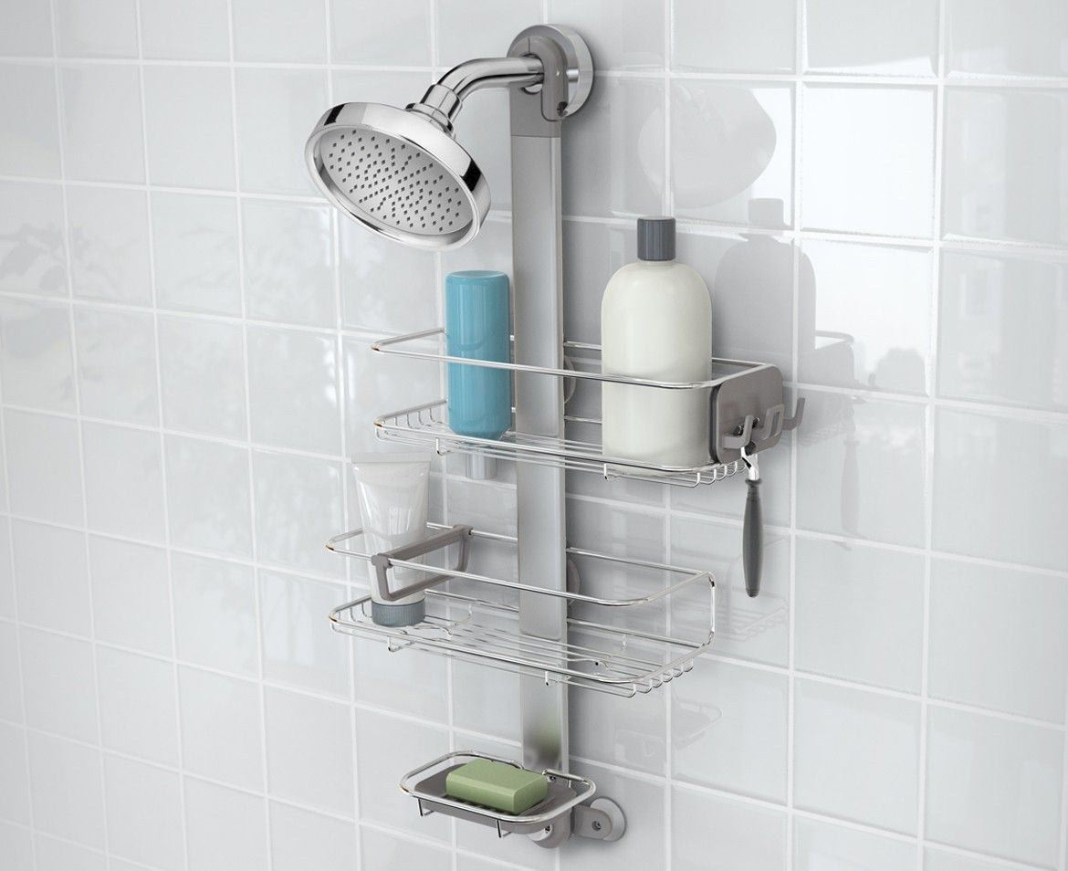 Adjustable Stainless Steel Shower Caddy Organiser Simplehuman Shower Caddy Shower Accessories