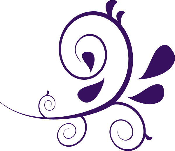 flower swirl clip art purple swirl without dots clip art vector rh pinterest ca paisley clip art public domain paisley clipart black and white