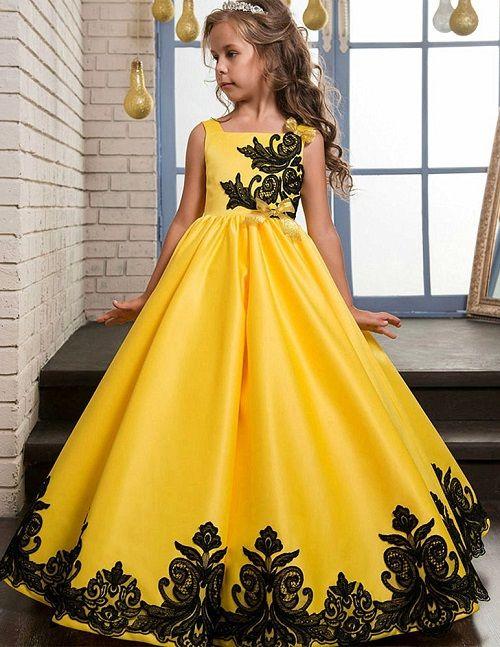 Sari Kiz Cocuk Abiye Elbise Gowns For Girls Kids Pageant Dresses Wedding Flower Girl Dresses