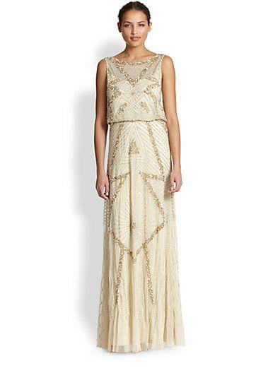 1da8458817 Aidan Mattox - Beaded Deco Gown - Saks.com