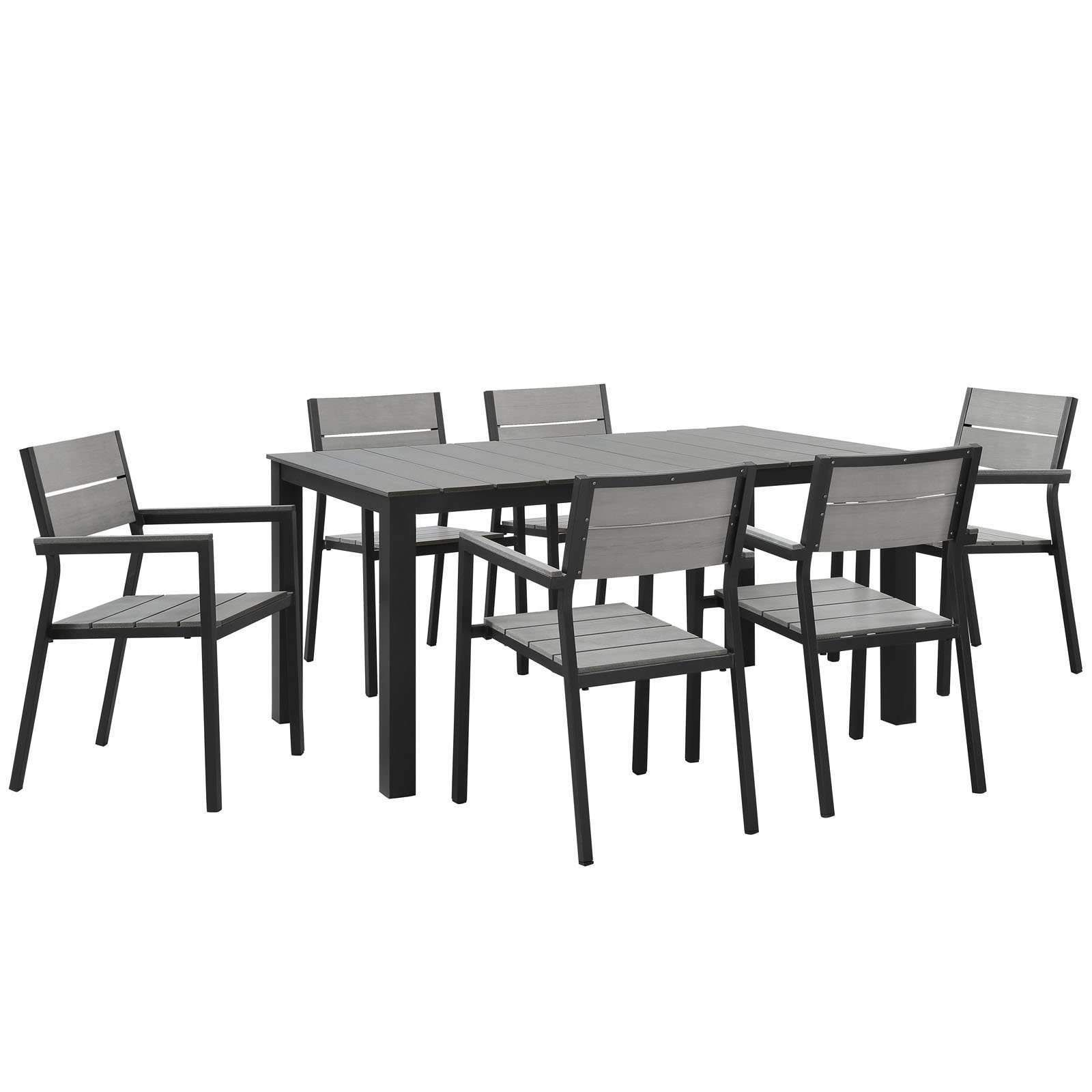 Awesome Maine 7 Piece Outdoor Patio Dining Set EEI 1749