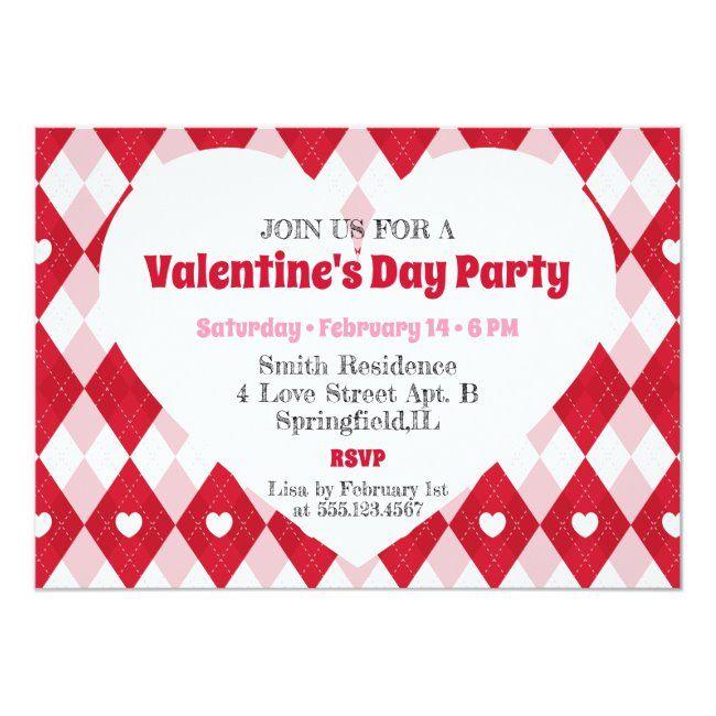 valentine's day party invitation affiliate  ad day