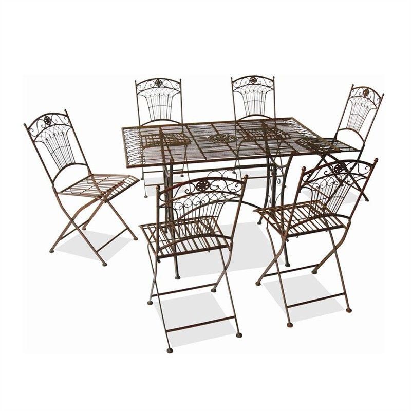 Marquee 7 Piece Rustic Iron Setting Dz181588 Pa1 Bunnings
