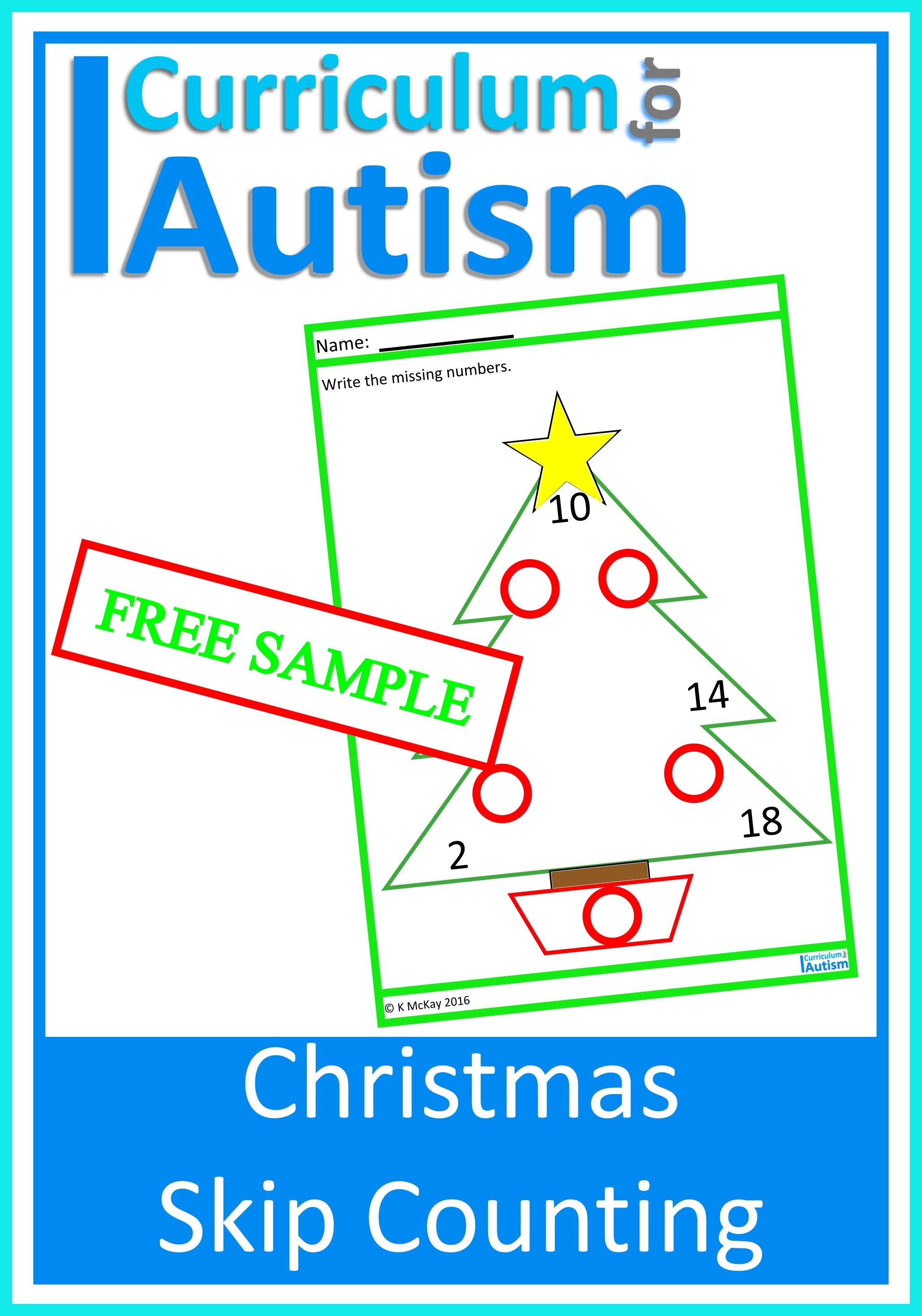 Free Christmas Multiplication Facts Skip Counting