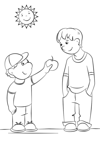 A Sweet Kindness Coloring Page For Little Ones Kidkindness Abc Coloring Pages Coloring Pages Bible Coloring Pages