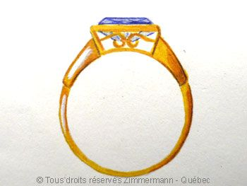 bague or dessin