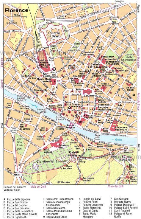 Map of Florence Attractions | PlanetWare #TuscanyAgriturismoGiratola ...