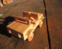 Vintage houten handgemaakte gesneden beeldje van de auto van hout / houten collectible beeldje kids speelgoed / natuurlijke houten beeldje / gebogen Home Decor B2