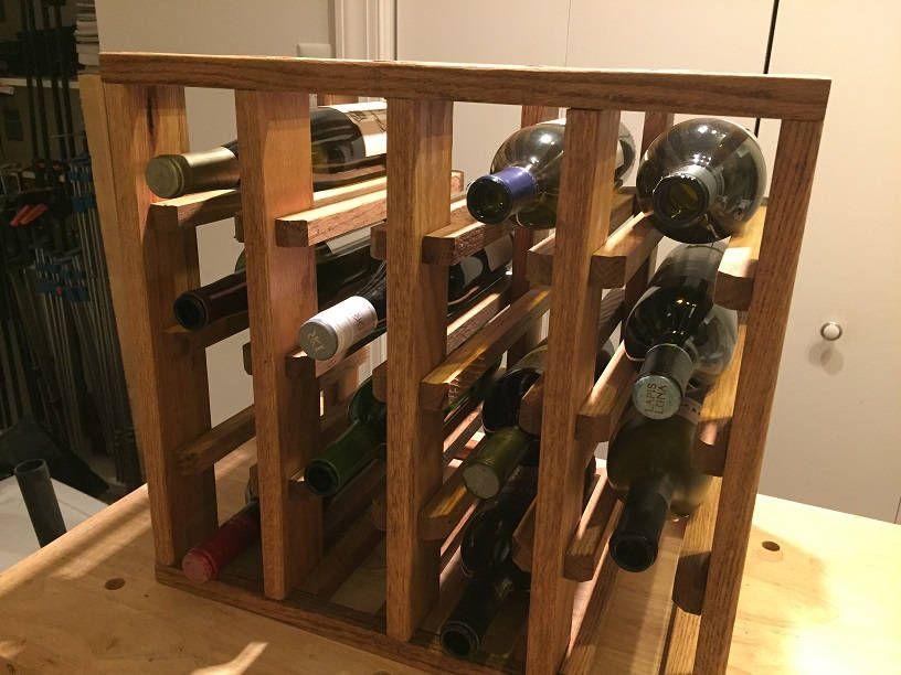 Oak 16 Bottle Stick Wine Rack Wine Rack Wooden Wine Rack Wine