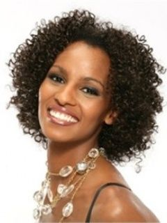 Carefree Hairstyle Short Typical African American Curly Brown Full
