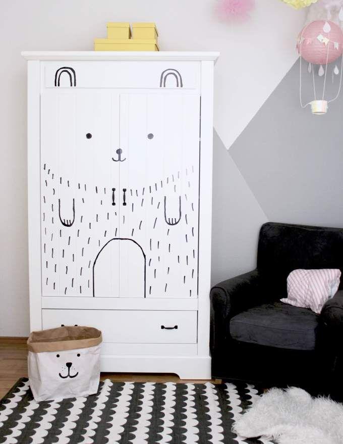 DIYIdee ° Kinderzimmerschrank schnell & einfach aufpimpen