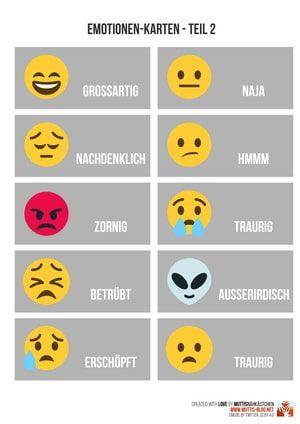 Emotionen-Karten als Erziehungshelfer - Download   Muttis Nähkästchen