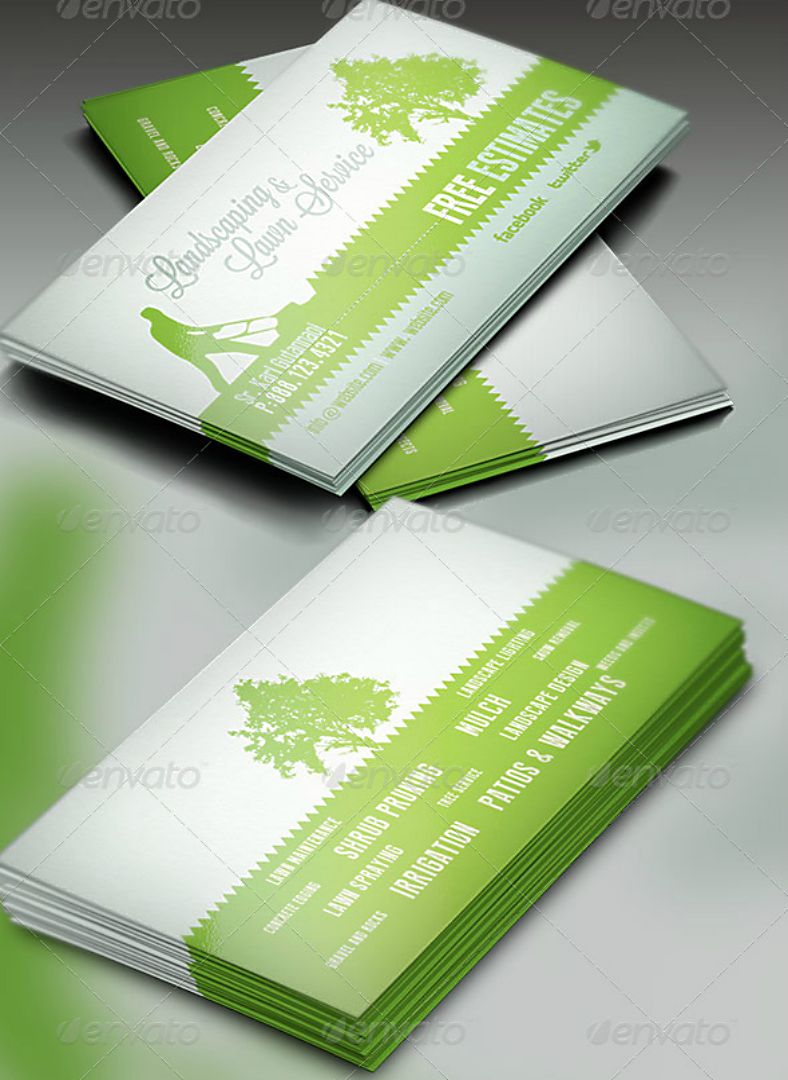 15 Landscaping Business Card Templates Word Psd Free Regarding Lawn C Landscaping Business Cards Free Business Card Templates Business Card Template Word