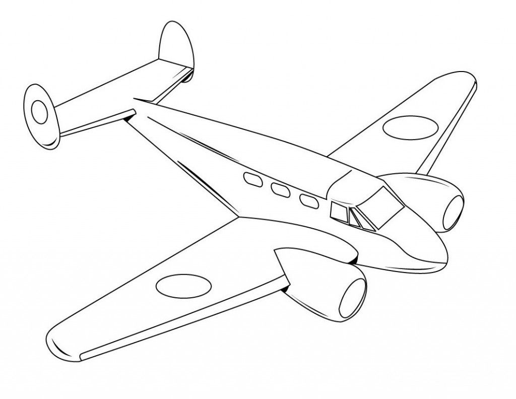 Free Printable Airplane Coloring Pages For Kids | Avión