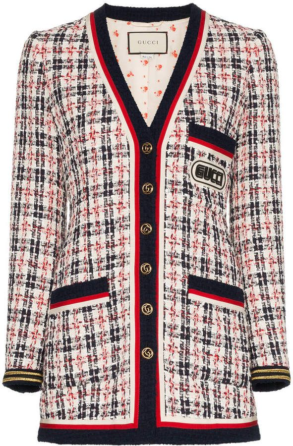 791b69f81 Gucci Check Jacket With Gucci Patch in 2019 | Products | Tweed ...