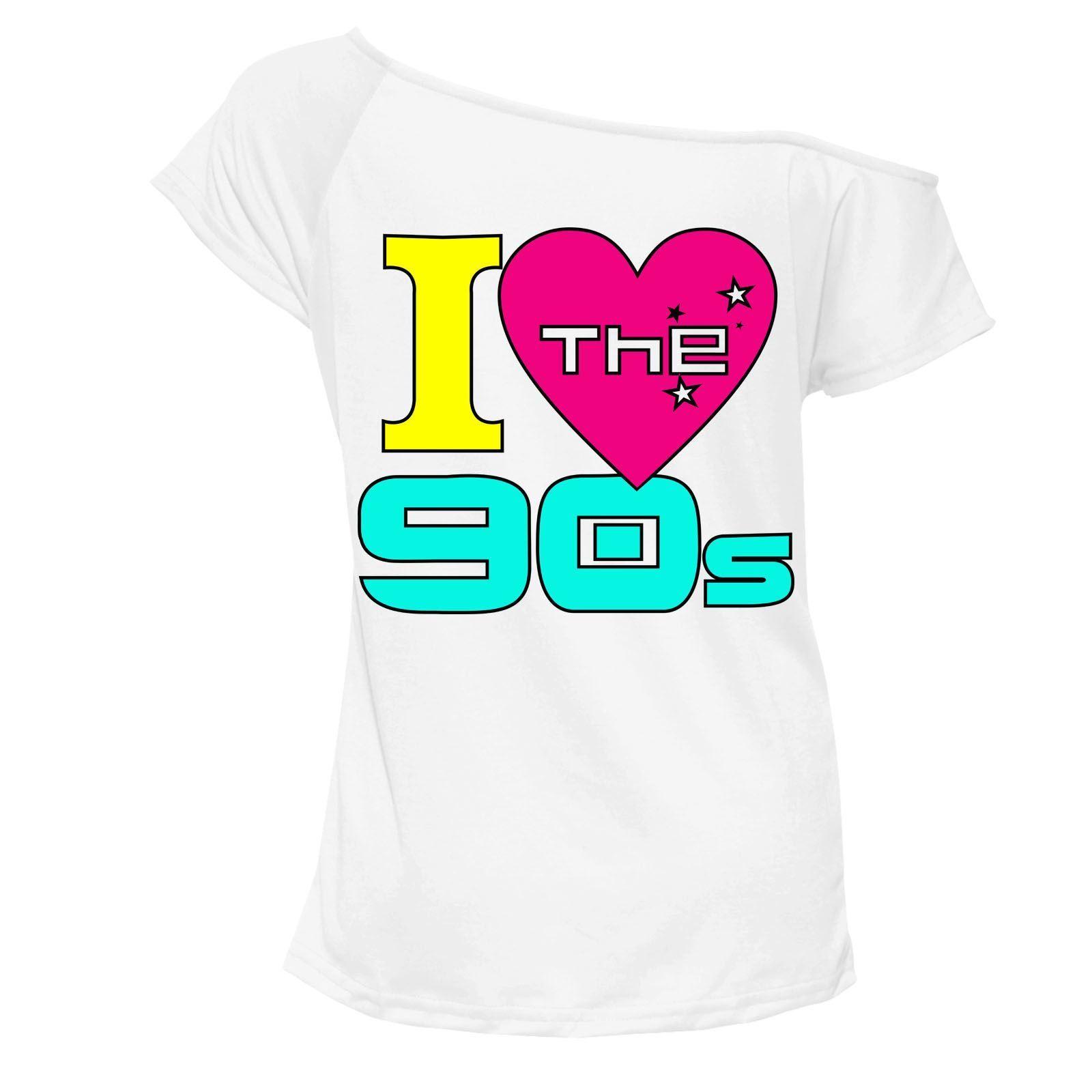ee37f0a9 We Love 90s Tshirt Top Off Shoulder Pop Retro Hen Party Club