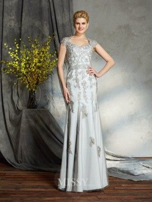 b1c281465eb7 Sheath/Column Sweetheart Sleeveless Satin Floor-Length Mother Of The Bride  Dress - MissyGowns
