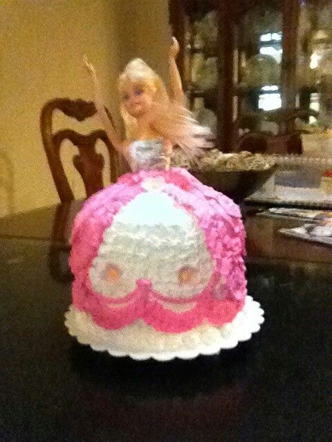 Homemade barbie cake