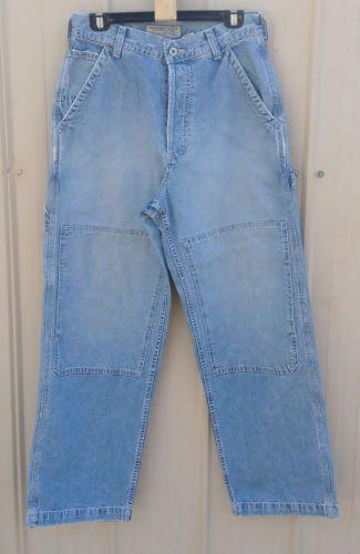 vintage abercrombie fitch mens carpenter jeans pants size 30r