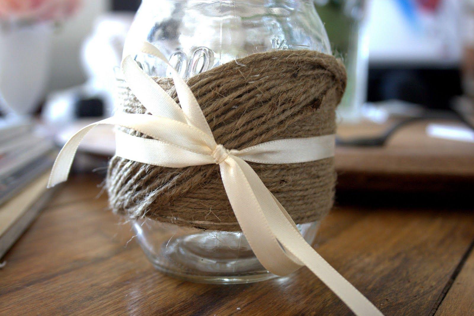 DIY Twine-Wrapped Mason Jars :: Hey Gorgeous, The Blog
