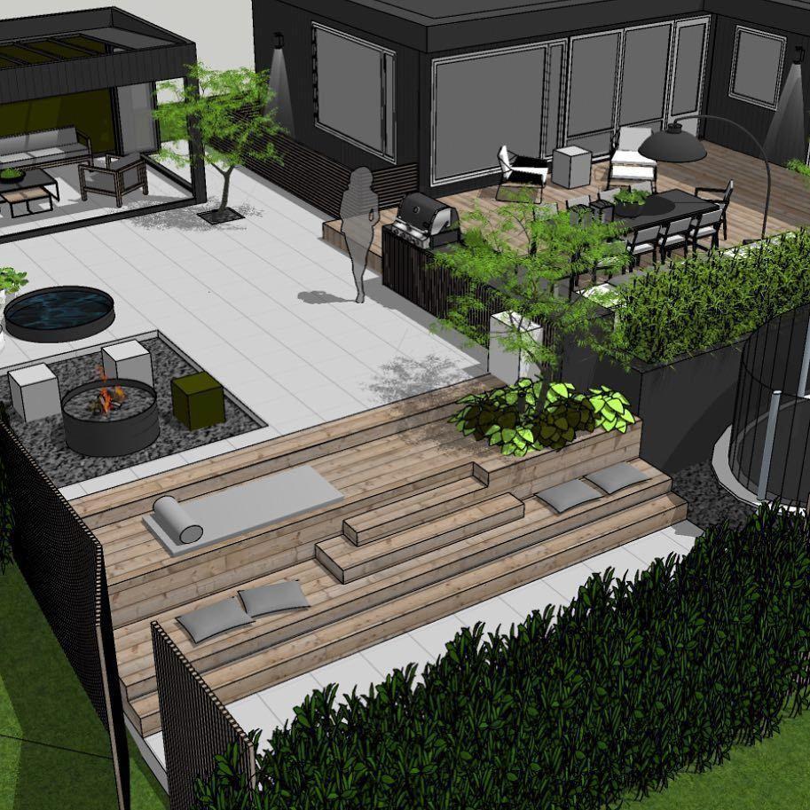Photo of Sloped Garden Idea #SlopedGardenIdealandscaping