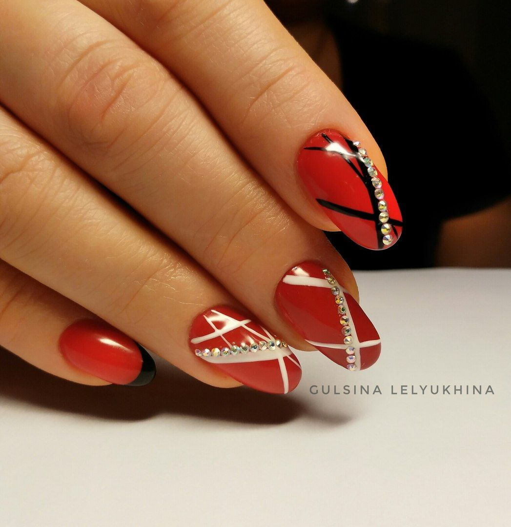 29 Red Finger Nail Art Designs Ideas: Red Nail Art, Nails Design With