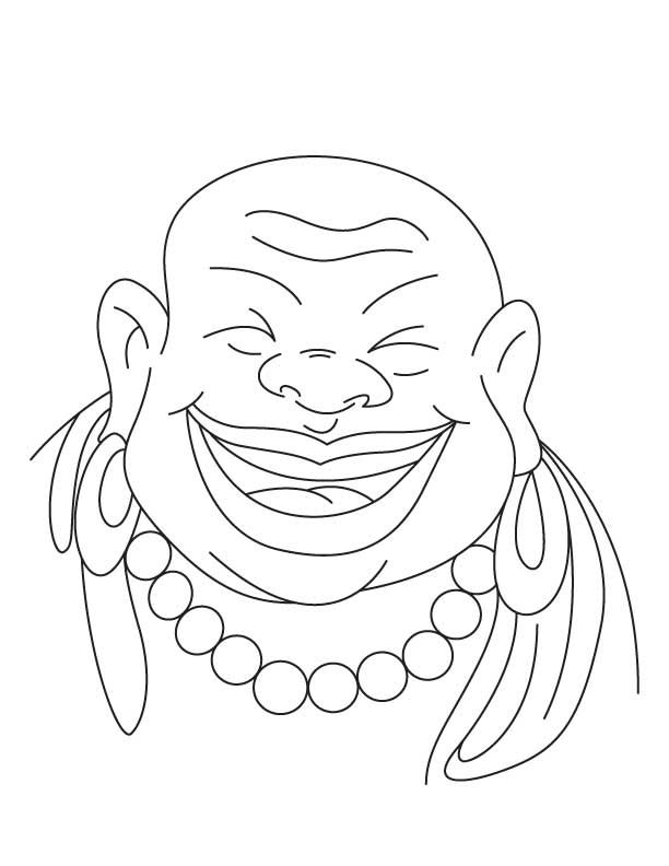 Chinese Buddha Coloring Page Chinese buddha Coloring