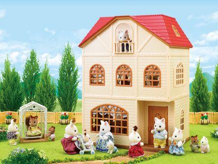 la maison aux 3 histoires est une r sidence de ville des sylvanian families le 3 me tage se. Black Bedroom Furniture Sets. Home Design Ideas