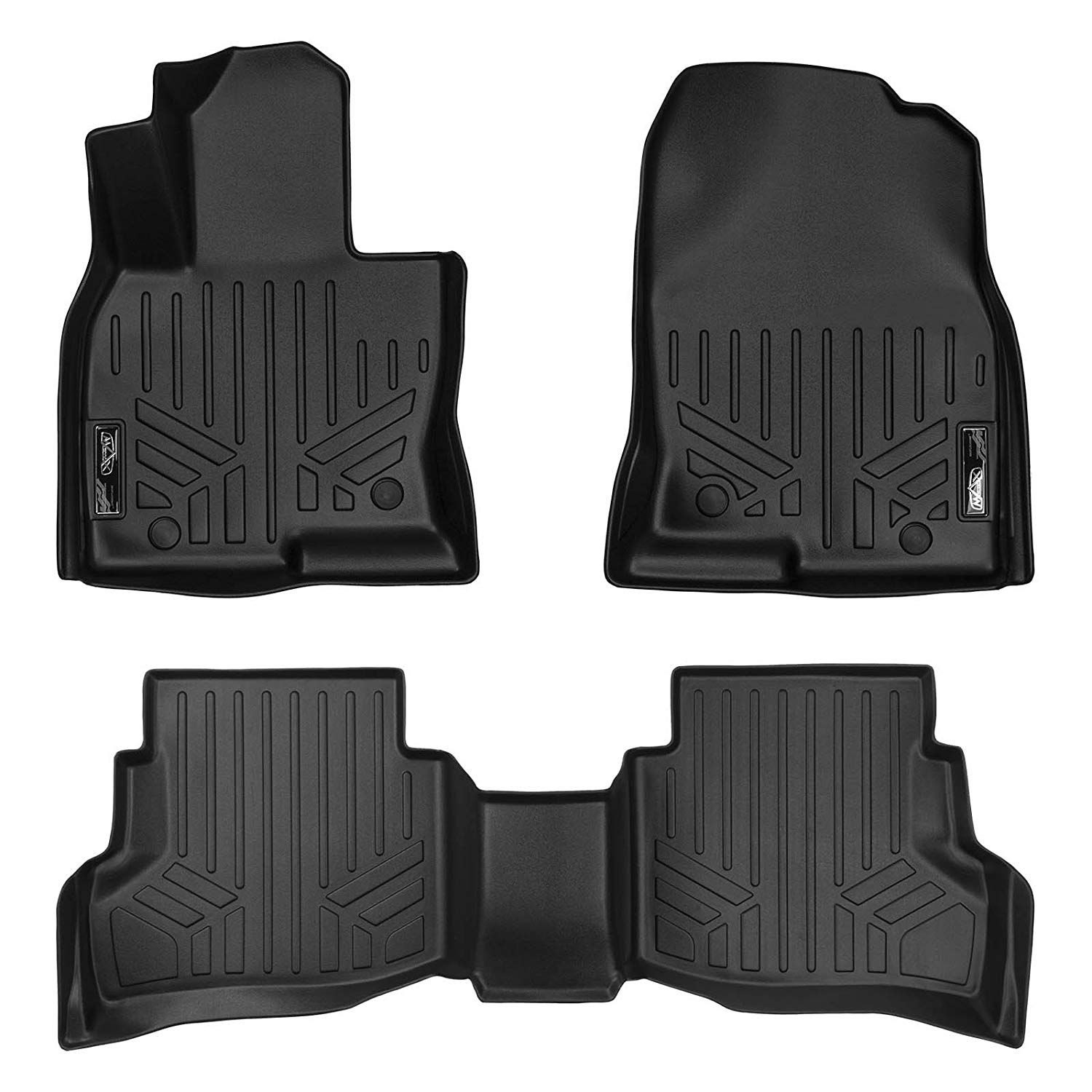 Smartliner Floor Mats 2 Row Liner Set Black For 2016 2018 Mazda Cx 9 Check Out The Image By Visiting The Link This Is An Affi Mazda Cx 9 Black Floor Mats