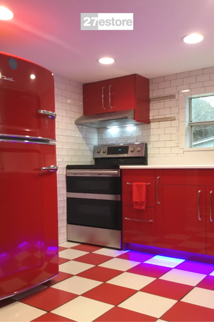 High Gloss Polyester Red in 2020 | Kitchen cabinet colors ...