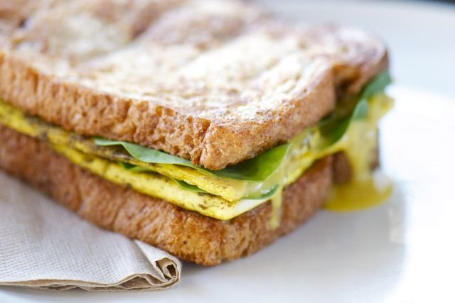 Fried Tofu French Toast Sandwich - vegan
