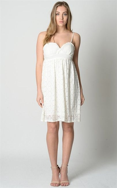 Dress-GF-1583-White S$19.00 on Singsale.com.sg
