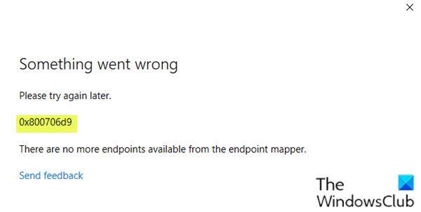 Microsoft Account Sign In Error 0x800706d9 Batch File Microsoft System Restore