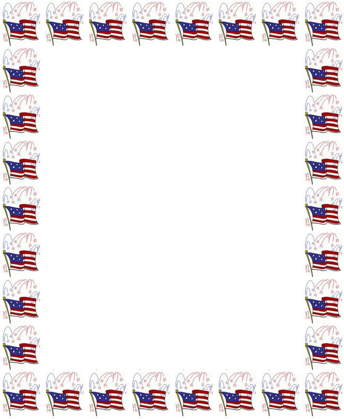 american flag writing paper Crafts for Kids