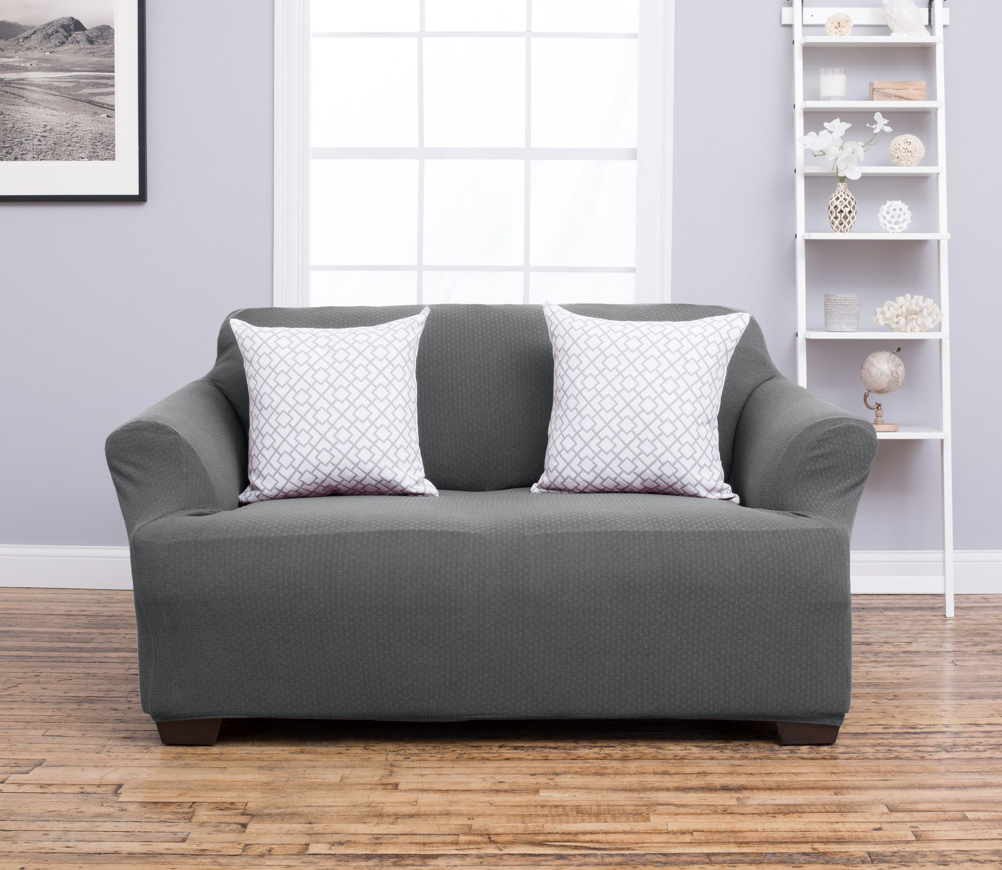 Amalio Collection Strapless Slipcover. Form Fit, Slip Resistant, Stylish Furniture Shield / Protector Featuring Plush, Heavyweight Fabric