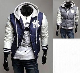 Men's NY Letterman Cotton Filled Coat