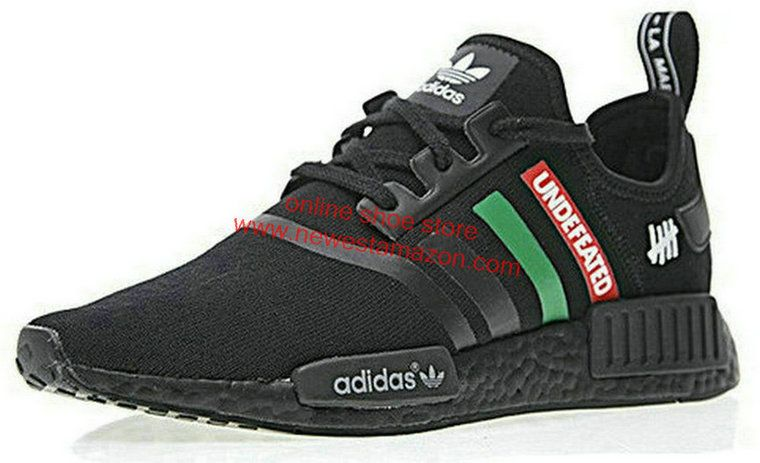 low priced 40e81 8dff0 Authentic Undefeated X Adidas NMD R1 Black Gorge Green White Speed Red For Sale  Shoe