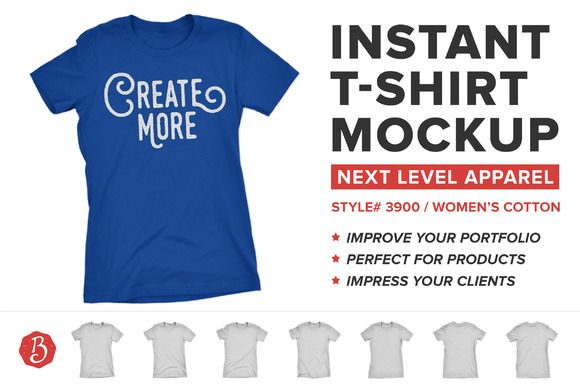 783778b67 Next Level 3900 T-Shirt Mockups by Brent Galloway on @creativemarket ...