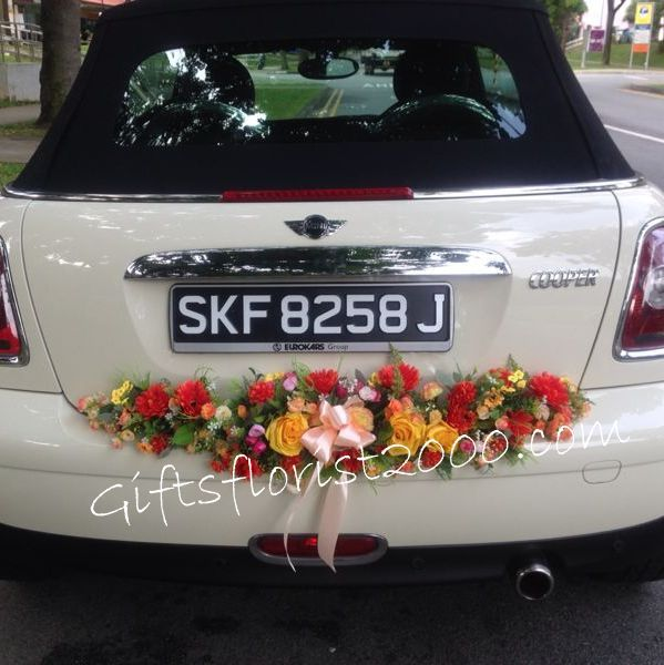 Wedding Car Decoration Fresh Flowers Orchid Wedding Car Decoration