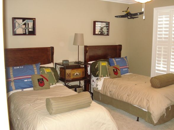 Vintage Wwii Theme Kids Room Boys Room Ideas Pinterest