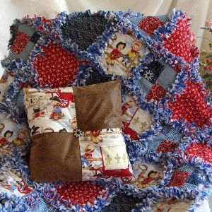 Western Rag Quilt Patterns Kids Cowboy Rag Quilt